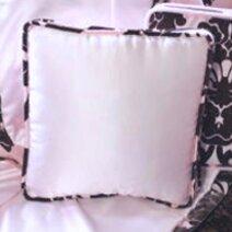Paris Pendelle Cotton Throw Pillow by Blueberrie Kids
