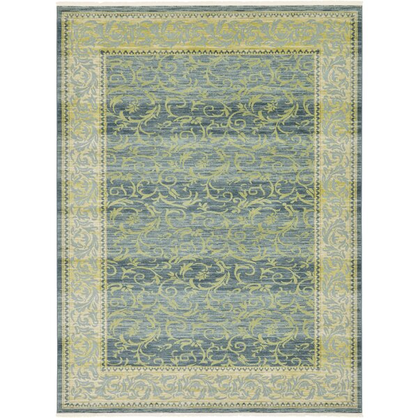 Oskar Blue/Green Area Rug by Charlton Home