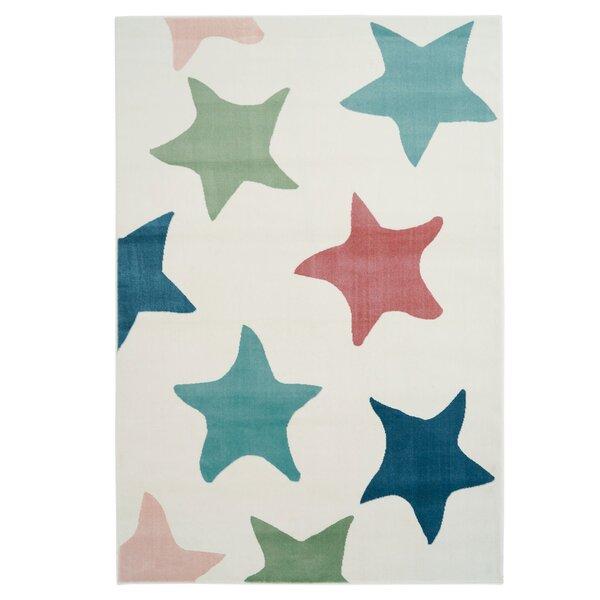 Shamar Star Blue/Green Area Rug by Harriet Bee