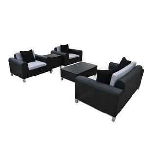 Amora 5 Piece Rattan Sofa Set with Cushions By Solis Patio