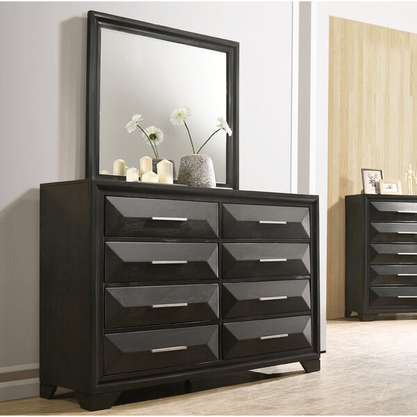 Aria 8 Drawer Double Dresser with Mirror by Latitude Run