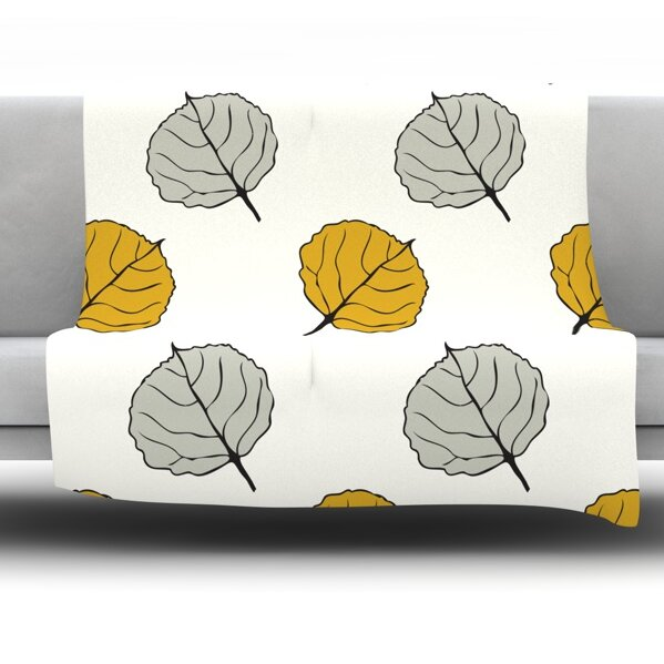 Leaf by Laurie Baars Fleece Blanket by East Urban Home