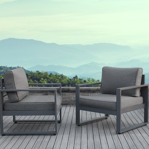 Baltic Patio Chair With Cushion (Set Of 2) By Real Flame