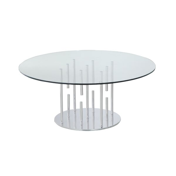Ashburt Pedestal Coffee Table By Orren Ellis