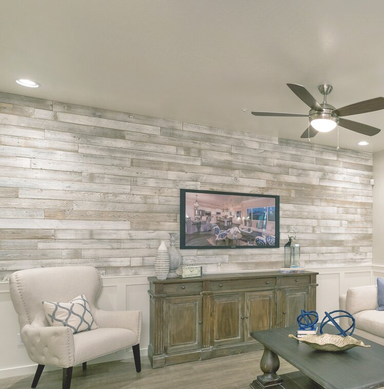 centennial woods 5 solid reclaimed wood wall paneling in sundance