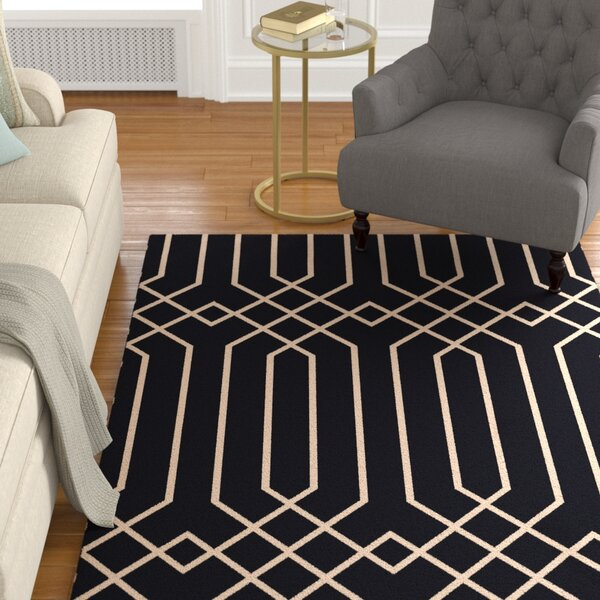 Rainsburg Black Geometric Area Rug by Darby Home Co