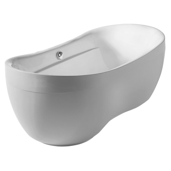 Bathhaus 70.88 x 35.5 Freestanding Bathtub by Whitehaus Collection