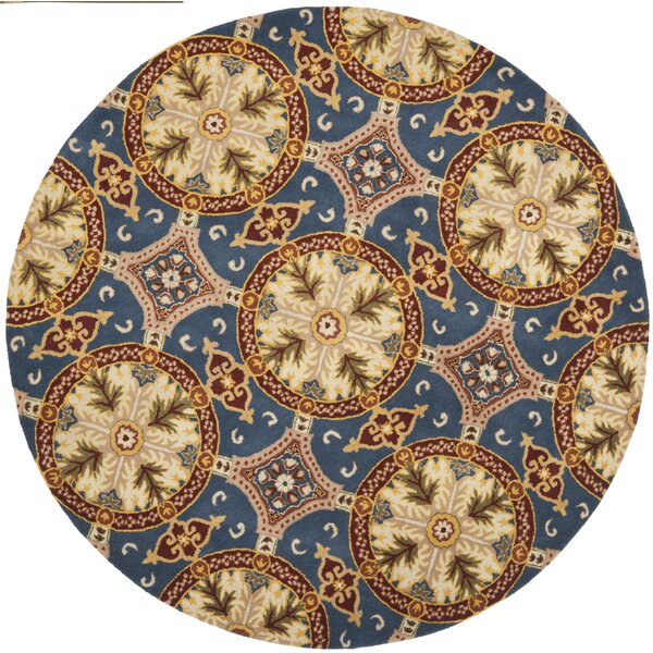 Colesberry Blue/Gold Area Rug by Charlton Home