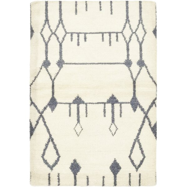 One-of-a-Kind Detweiler Hand-Knotted Wool Ivory Indoor Area Rug by Isabelline