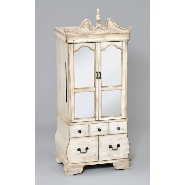 Cece Free Standing Jewelry Armoire with Mirror by One Allium Way