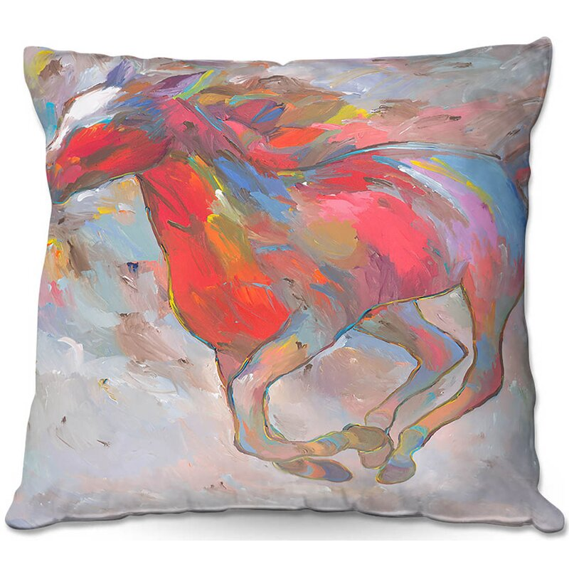 Couch Smooth Runner I Horses Throw Pillow
