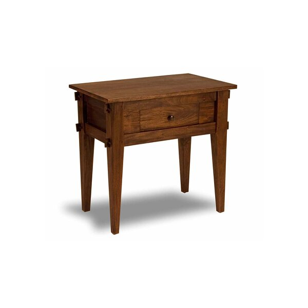 Cranleigh 1 Drawer Nightstand by Loon Peak