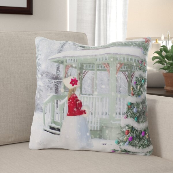 Leighton Christmas Background Indoor/Outdoor Canvas Throw Pillow