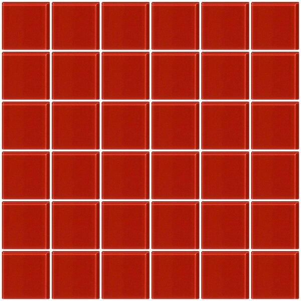 Bijou 22 2 x 2 Glass Mosaic Tile in Red Brick by Susan Jablon
