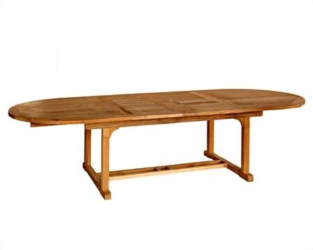 Chelsea Extendable Teak Dining Table by Three Birds Casual
