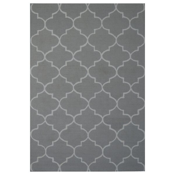 Wool Hand-Tufted Gray/Ivory Area Rug by Eastern Weavers