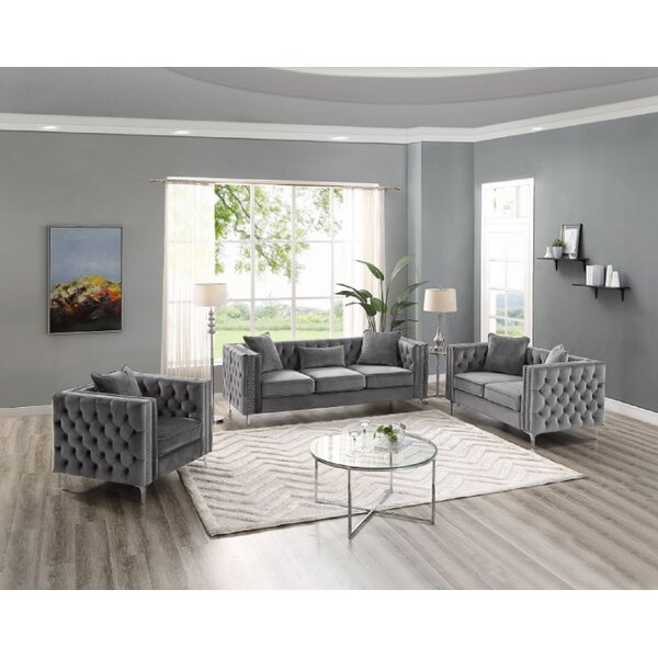 Magner 3 Piece Living Room Set by House of Hampton