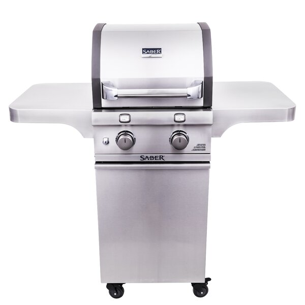 Cast 2 Burner Cart Gas and Charcoal Grill by Saber