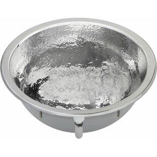Affordable Asana Metal Circular Undermount Bathroom Sink with Overflow By Elkay