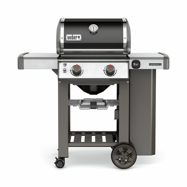 Genesis II E-210 2-Burner Propane Gas Grill with Side Shelves by Weber