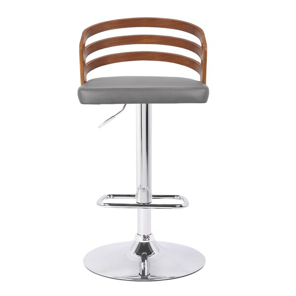Jaydin Adjustable Height Swivel Bar Stool by Orren Ellis