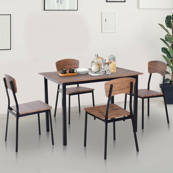 Castellanos Modern 5 Piece Counter Height Dining Set by Union Rustic