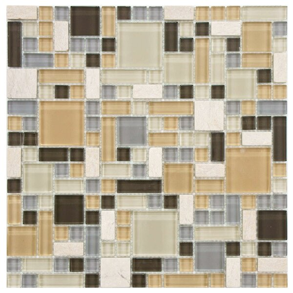 Sierra Random Sized Glass/Stone Mosaic Tile in Versailles River by EliteTile
