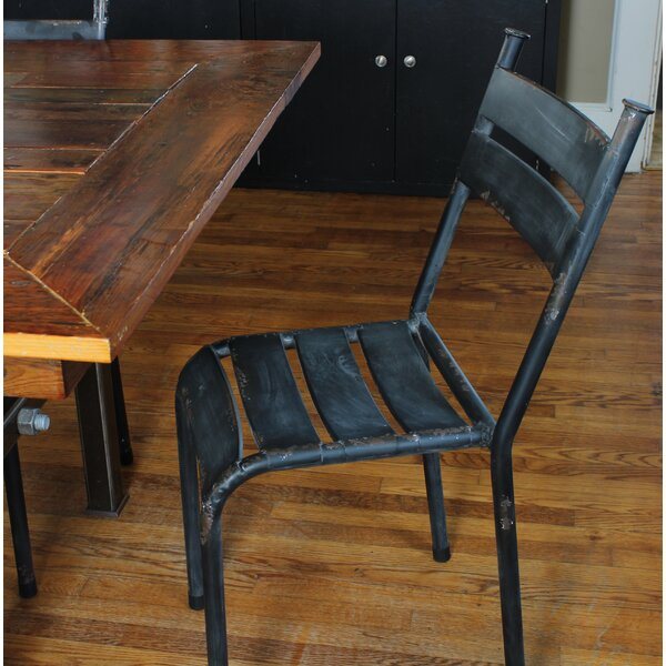 Linde Distressed Metal Dining Chair (Set of 2) by Gracie Oaks