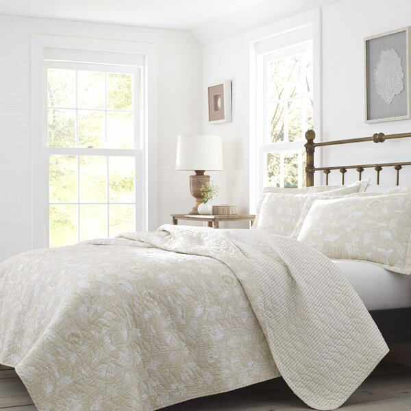 Joans Excursion Cotton Reversible Quilt Set by Laura Ashley Home by Laura Ashley Home