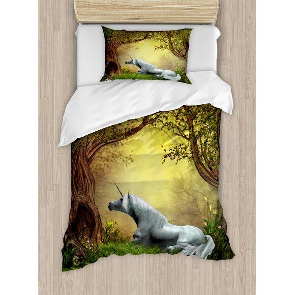 Unicorns Duvet Set by Ambesonne