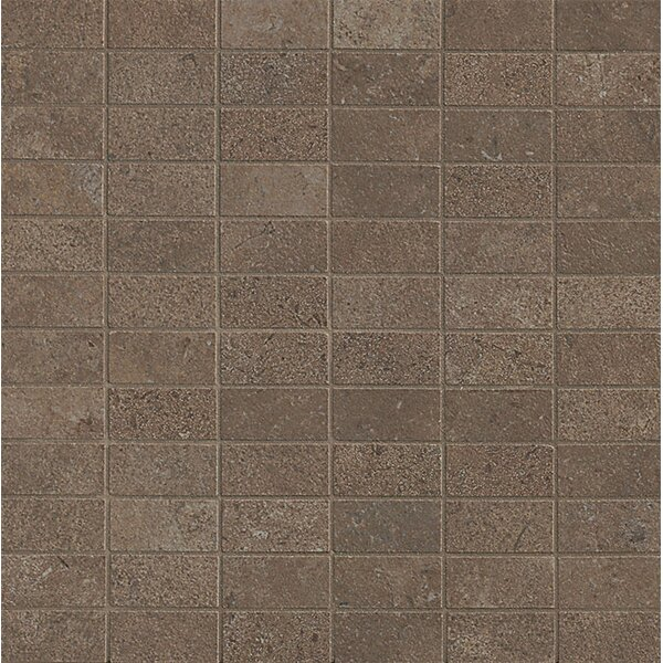Tribeca 1'' x 2 Porcelain Mosaic Tile in Brown by Bedrosians
