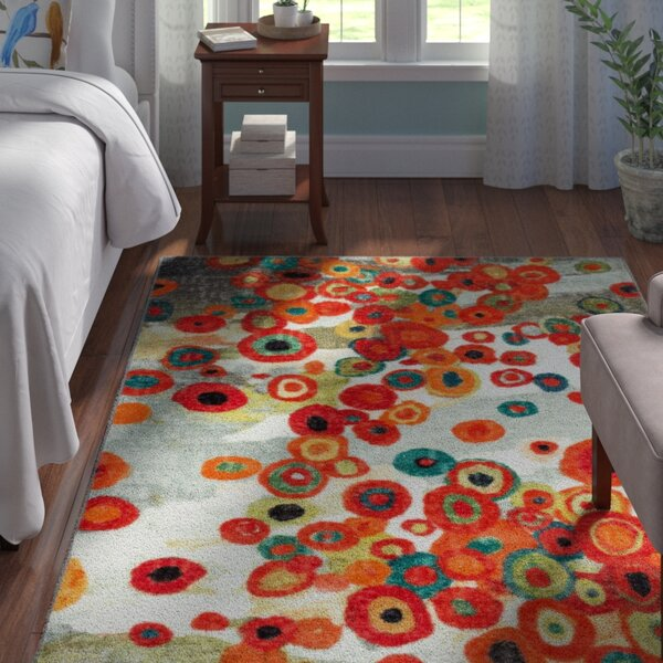 Adaline Tossed Floral Multi Printed Area Rug by Andover Mills