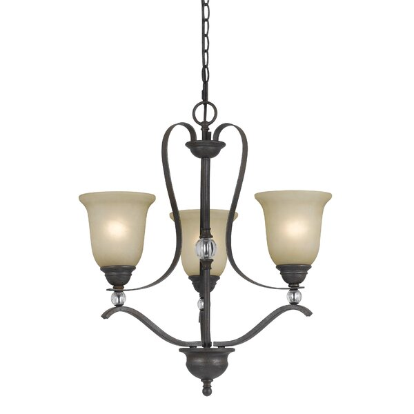 Adelbert 3 - Light Shaded Empire Chandelier by Fleur De Lis Living Fleur De Lis Living