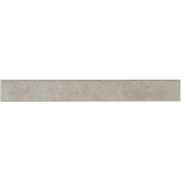 Haut Monde 24 x 3 Porcelain Bullnose Tile Trim in Elite Gray by Daltile