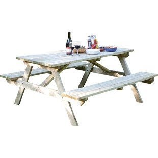 Redwood Picnic Table Wayfair - Four sided picnic table