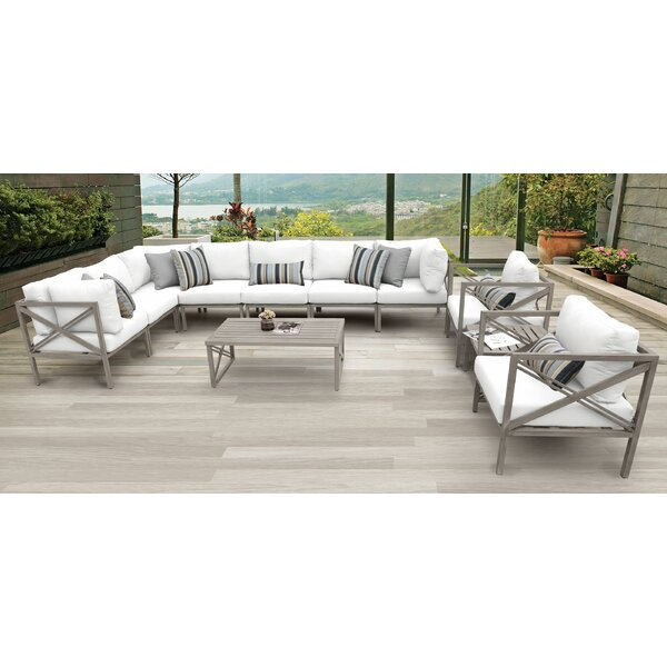 Carlisle 11 Piece Outdoor Sectional Set with Cushions by TK Classics