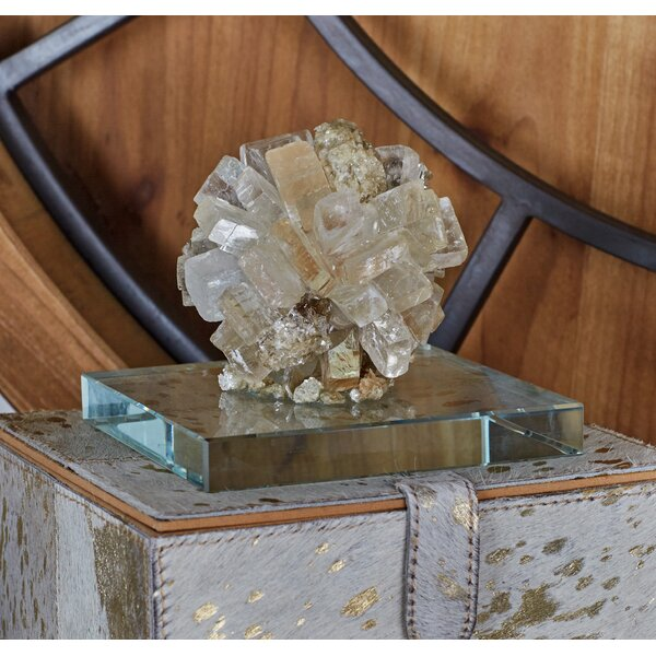 Calcite Glass Gem Sculpture by Cole & Grey