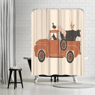 NDTank Farm Use Shower Curtain