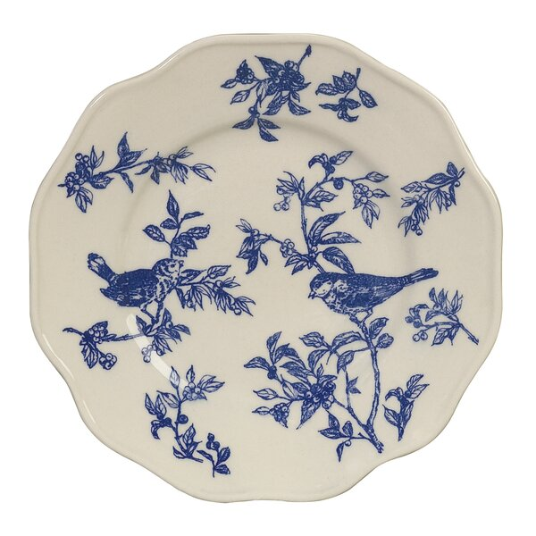 Bird Toile Dinner Decorative Plate by Andrea by Sa
