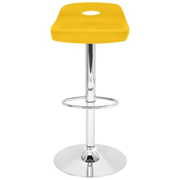 Barron Adjustable Height Swivel Bar Stool by Brayden Studio