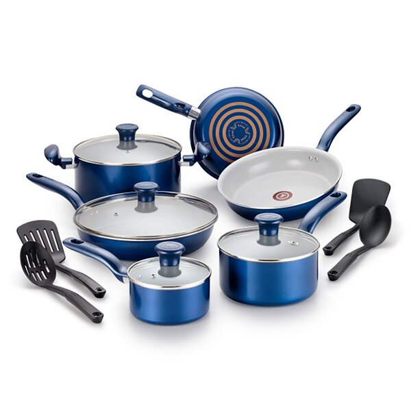Initiatives 14 Piece Non-Stick Cookware Set by T-fal