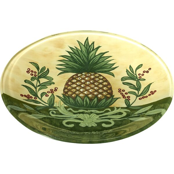 Welcome Pineapple Hand Painted 6.25 Butter Plate b