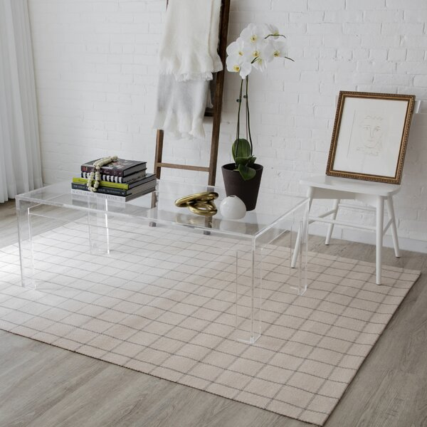 Marlborough Deerfield Hand-Woven Wool Ivory Area Rug by Erin Gates by Momeni