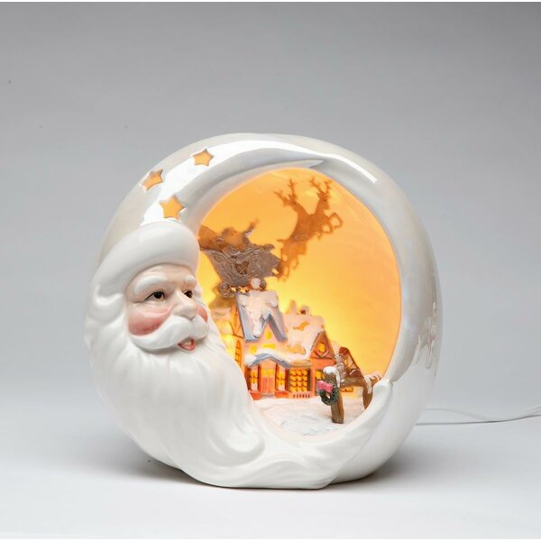 Santa with Christmas House Night Light by Cosmos Gifts