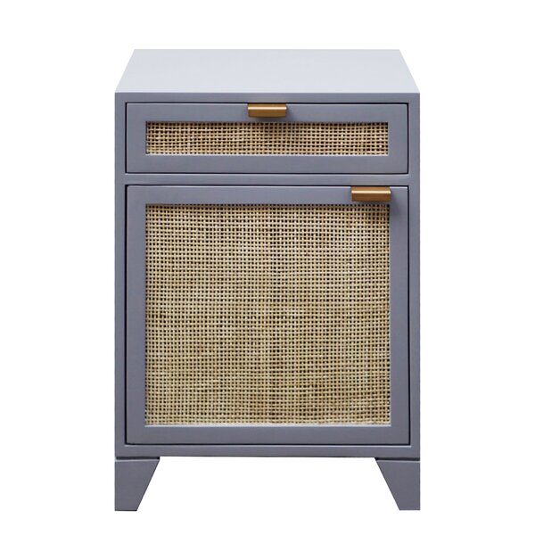 Cane Front 1 Drawer Nightstand by Worlds Away