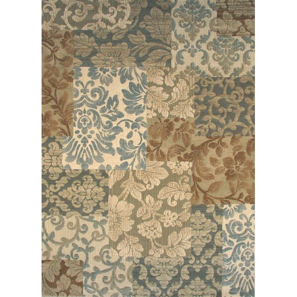 David Blue/Beige Area Rug by Fleur De Lis Living