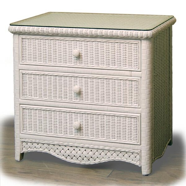 Nahua 3 Drawer Dresser by Bay Isle Home