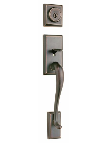 Hawthorne Single Cylinder Entrance Handleset by Kwikset