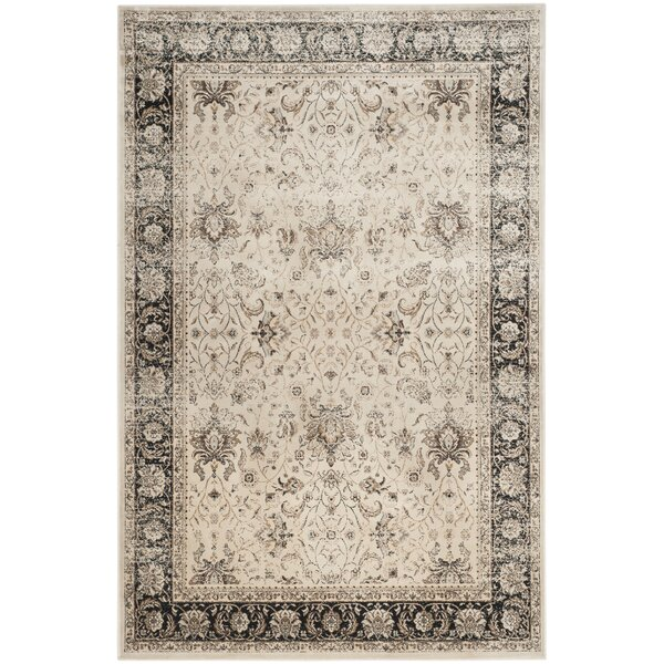 Jules Beige/Black Area Rug by Darby Home Co
