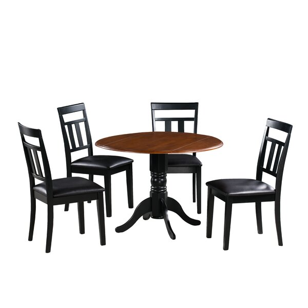 Agata 5 Piece Drop Leaf Solid Wood Dining Set By August Grove Today Sale Only